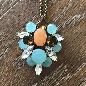 "Jewelry - J Crew multi-colored stone ""vintage"" 30"" necklace"